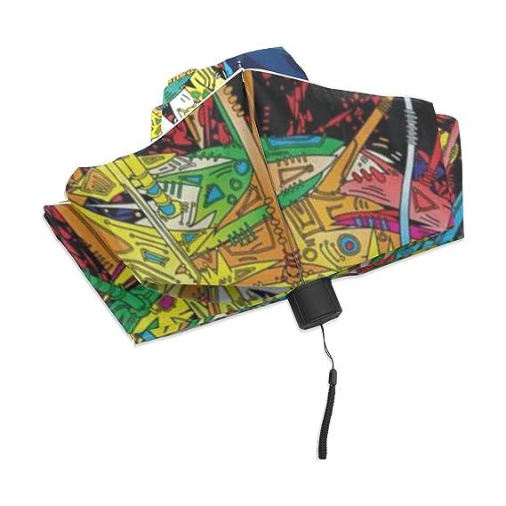 zoeo plegable compacta resistente al viento paraguas de viaje Vector azúcar calavera: Amazon.es: Jardín