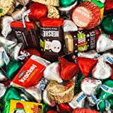 Bulk Christmas Chocolates - Hershey's Miniatures, Kisses and Reese's Christmas Assortment (25 lb Bag)