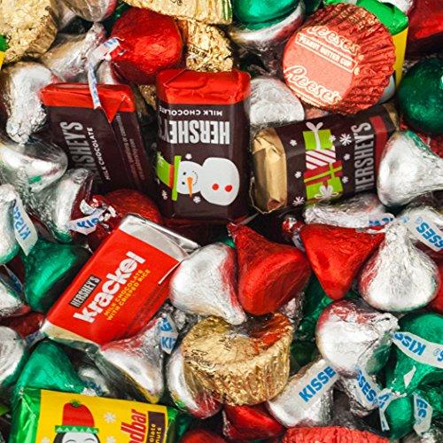 bulk-christmas-chocolates-hersheys-miniatures-kisses-and-reeses-christmas-assortment-10-lb-bag