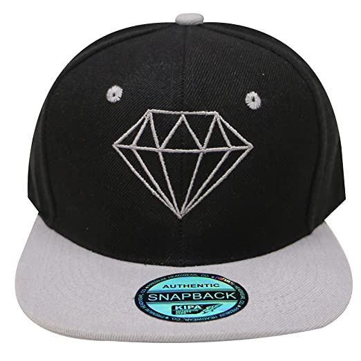 City Hunter Cf918t Diamond Snapback Cap - 5 Colors (Black grey) at ... 20e1c5415cbf
