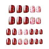 24pcs Fake Nail Nail-painted Fashion Finished