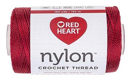 Amazoncom Red Heart 1380091 Nylon Crochet Thread Red Arts