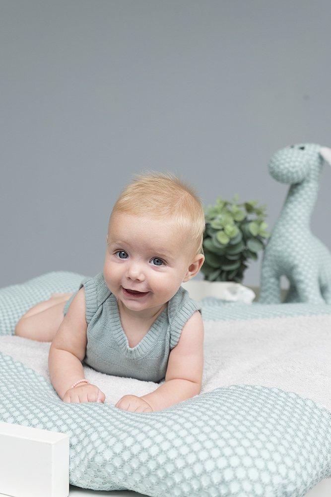 silbergrau Gr 75x85 cm Babys Only 257082 Wickelkissenbezug Sun grau