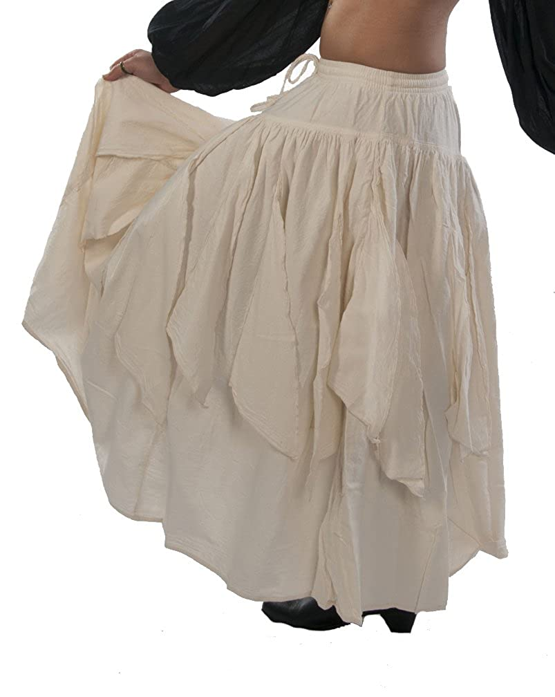Renaissance Gypsy Thick Natural Cotton Petal Skirt by Dress Like A Pirate - DeluxeAdultCostumes.com