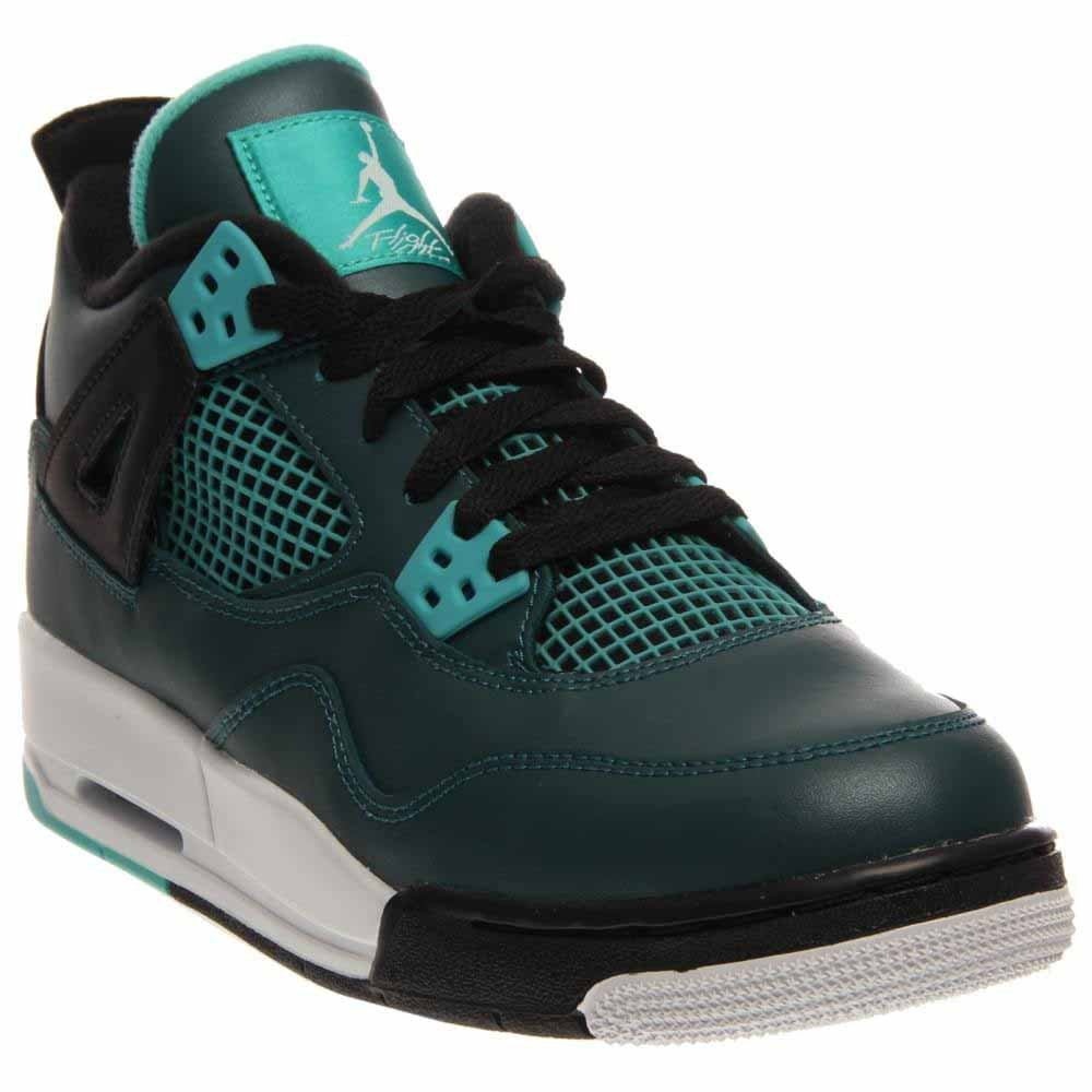 TEAL WHITE-BLACK-RETRO Nike Jordan Kids Air Jordan 4 Retro Bg Basketball shoes