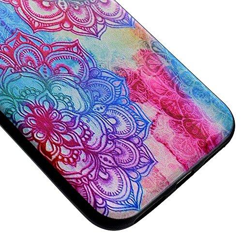 VANKER Fantaisie Motif Coloré TPU Souple Coque Housse Etui Peau pour iPhone 7(Fleurs à Côté)