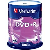 Verbatim DVD+R 4.7GB 16x AZO Recordable Media Disc - 100 Disc Spindle