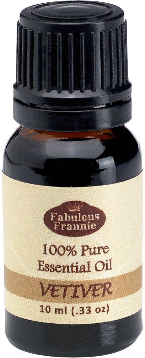 Vetiver 100% Pure, Undiluted Essential Oil Therapeutic Grade - 10 ml. Great for Aromatherapy!