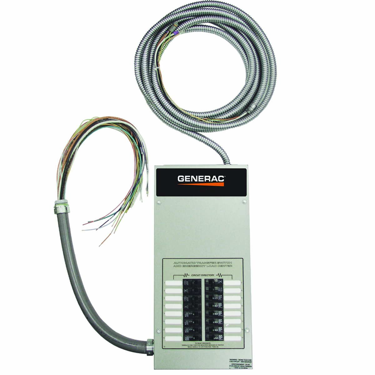 Generac RTG16EZA1 Automatic Transfer Switch 16-Circuit 100-Amp Load Center, Rated NEMA 1 CUL