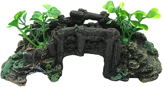 Yardwe Puente de Resina en Miniatura para Accesorios de Hadas del jardín Puente de Piedra Decorada Puente pequeño para Adornos de jardín en Miniatura: Amazon.es: Jardín