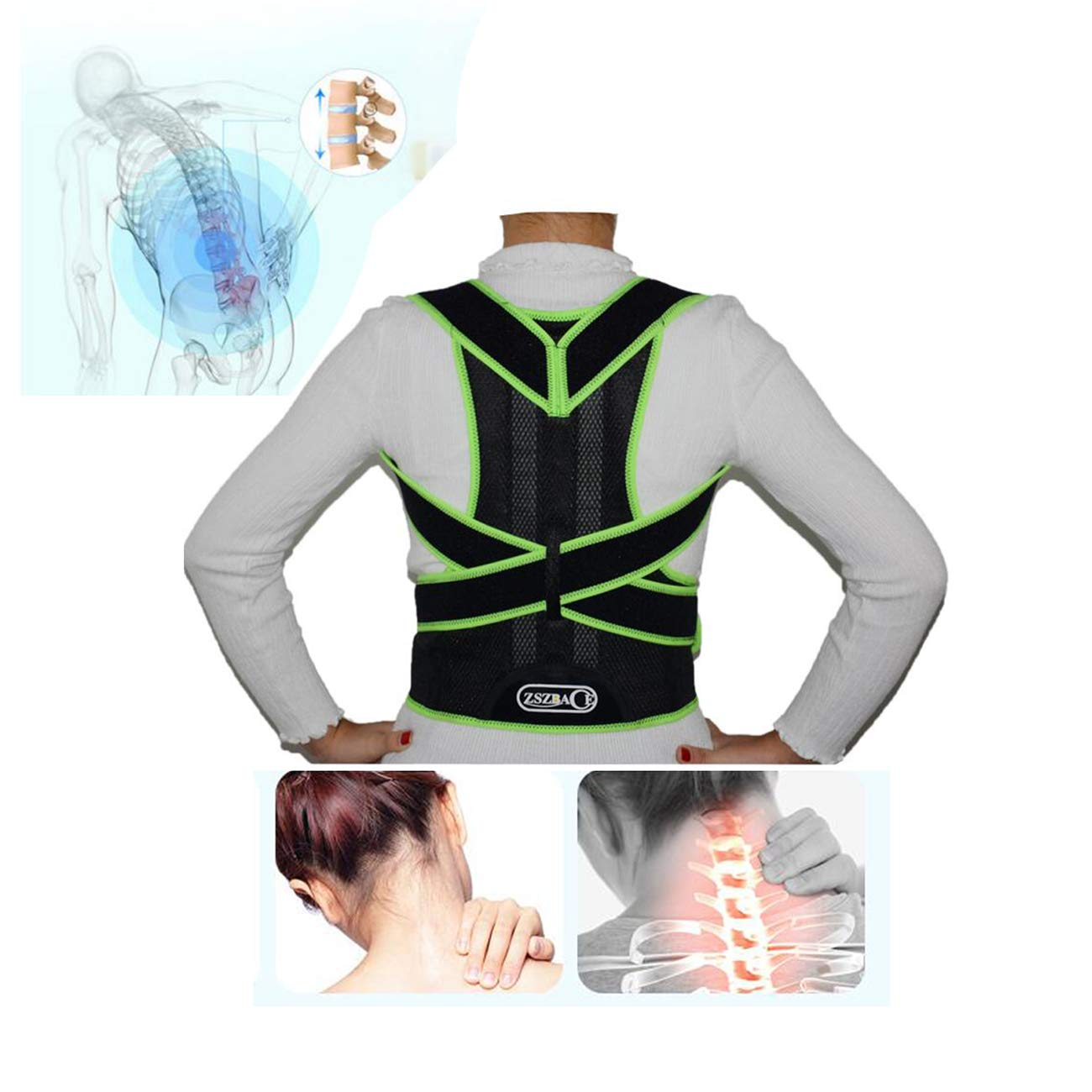 Back Posture Back Correction Belt,Back Support,Back Orthopedic Equipment, Hunchback Corrector, Lower Back Support to Relieve Back Pain. (Medium) by ZSZBACE