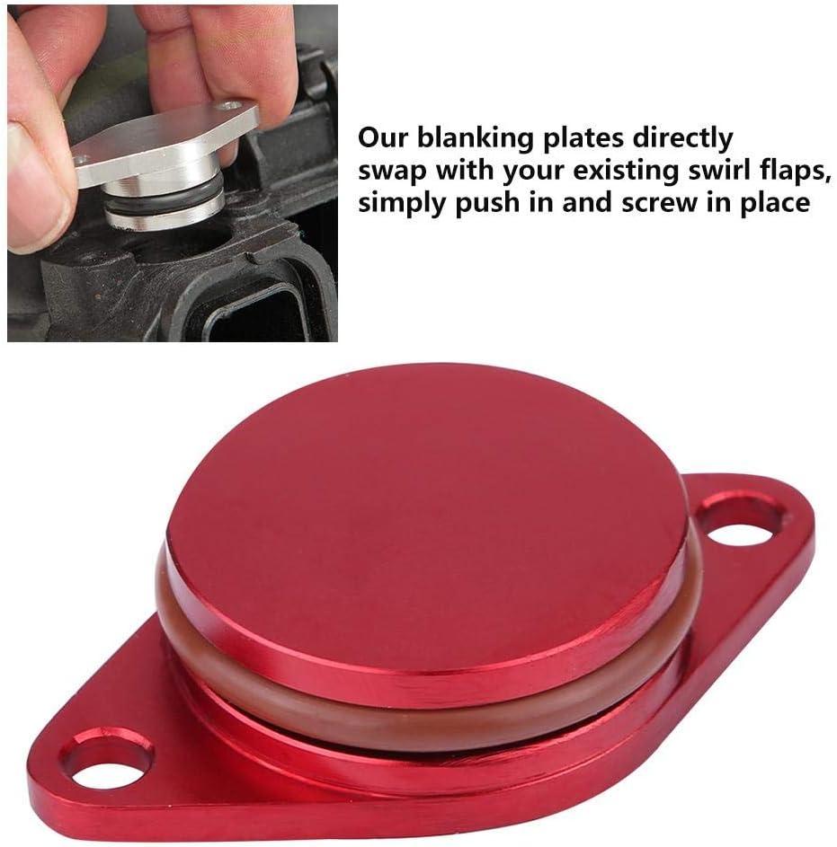 Broco Blanks con flap Swirl fustelle di rimozione Guarnizioni del collettore Aspirazione del motore auto Kit di riparazione di fustelle di turbolenza diesel con guarnizioni 6 * 33mm-Nero