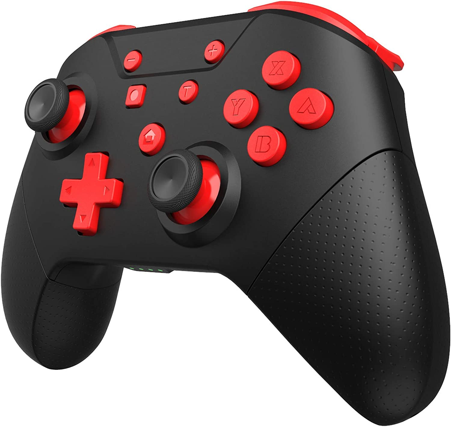 GCHT GAMING Switch Pro Controller for Nintendo Switch/Switch Lite with Wake Up, NFC, Turbo, Gyro Axis, Dual Shock (Black Rad)