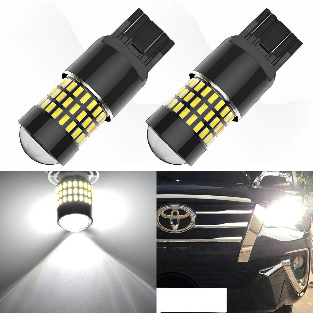 YITAMOTOR 2x 1156 LED 1700 Lumens 78-SMD Super White Light, 1141 1003 BA15S 7506 LED Bulb for Brake Backup Tail Light Replacement, 6500K White