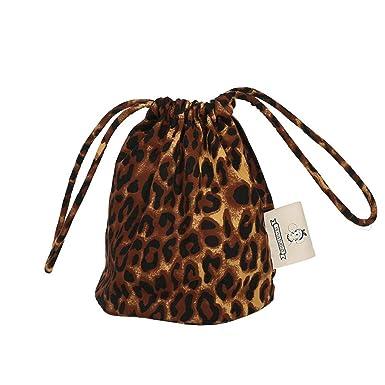iBaste Moda Clásica Bolso Redondo Leopardo Mujer Crossbody Lona Bolsos Bolsa de Lazo de Compras Vintage Shoulder Bag: Amazon.es: Ropa y accesorios