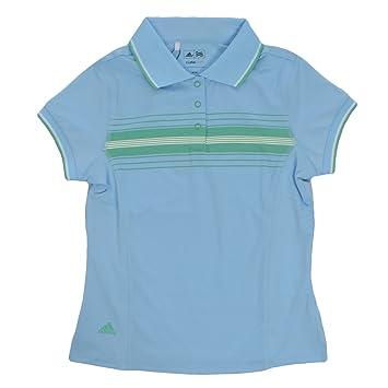 adidas Performance - Polo Niña - Golf - Azul claro - M: Amazon.es: Deportes y aire libre