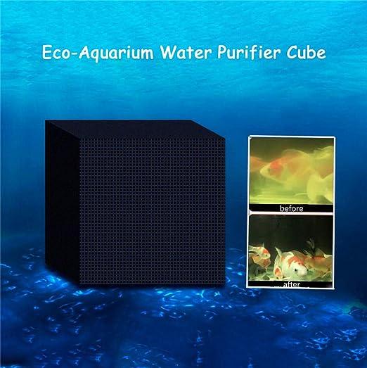 MARFUNY Eco-Aquarium Purificador de Agua Cubos, pecera Filtración ...