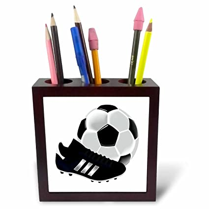 3dRose ph_223403_1 - Soporte para bolígrafo de balón de fútbol y ...