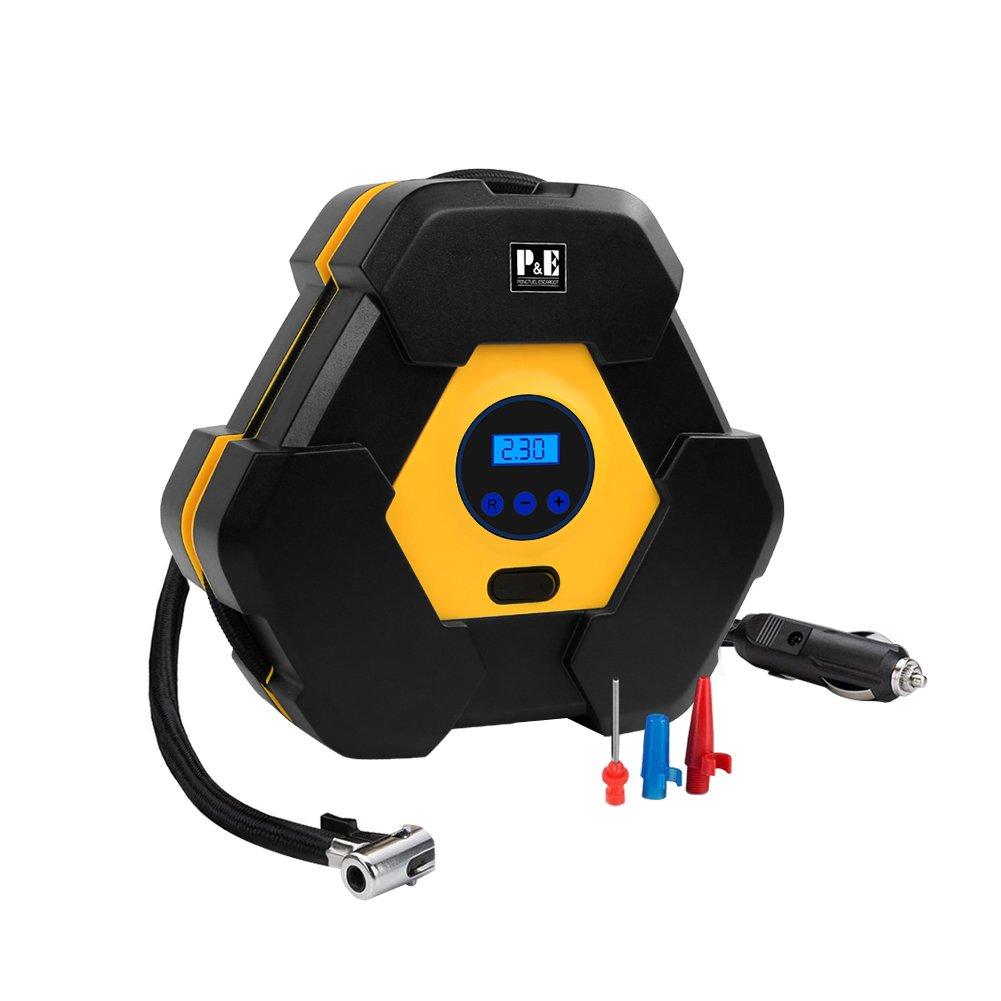 Compresor de aire,Inflador de Neumáticos,Bomba Inflador Portátil con luz LED Voltaje 12V (Digital): Amazon.es: Coche y moto