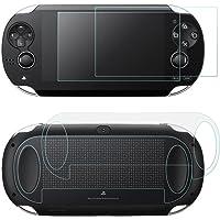 Screen Protector voor Sony PlayStation Vita 1000 met achterzijde, AFUNTA 2 Pack gehard glas voor voorruit en HD Clear…
