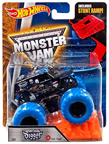 f6be1e1f2ec7 Image Unavailable. Image not available for. Color  Hot Wheels Monster Jam  2017 Color Treads Son-Uva Digger (Includes Stunt Ramp and
