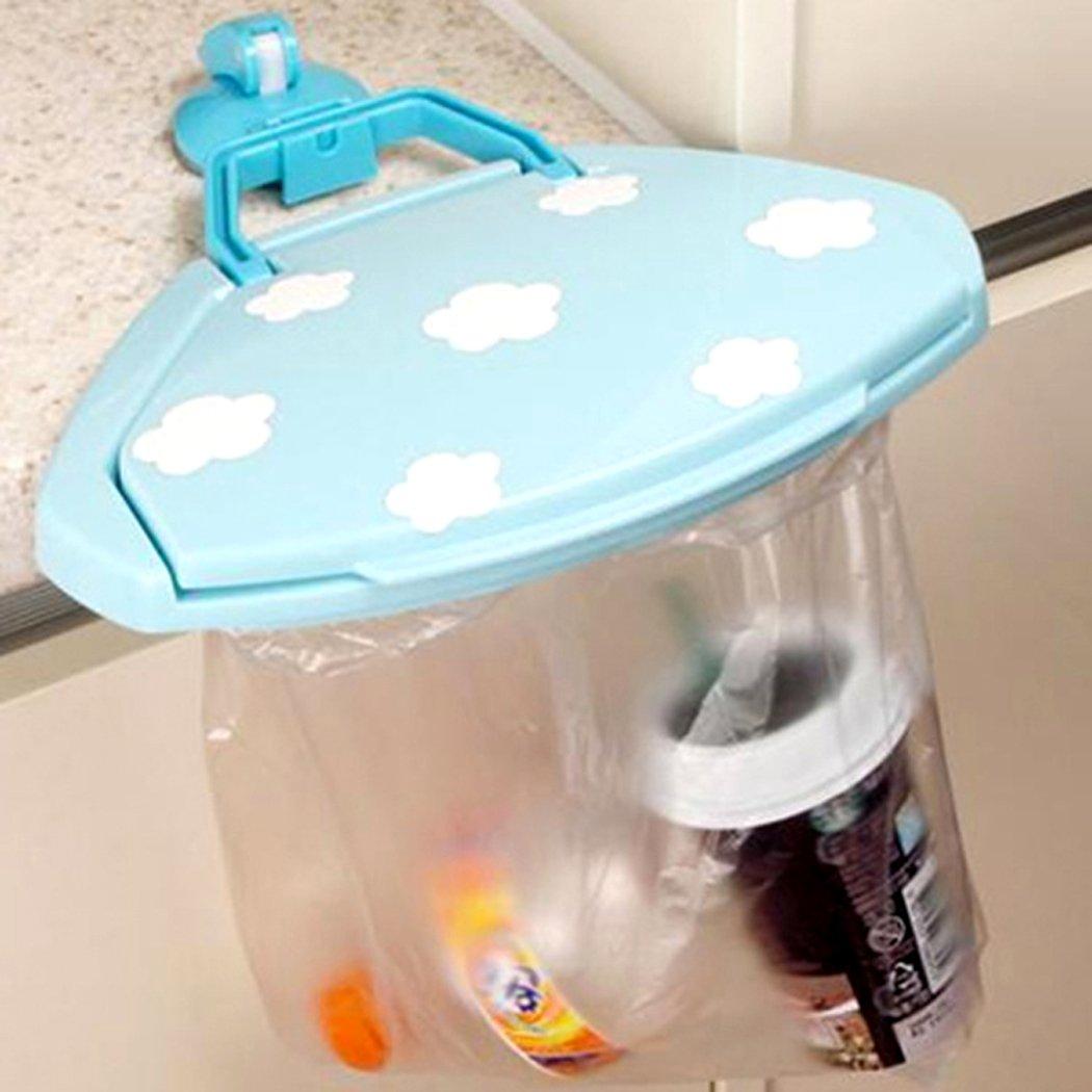para colgar las bolsas de basura de los armarios de cocina color Al Azar Abcsea 1 pieza soporte para bolsas de basura de adsorci/ón