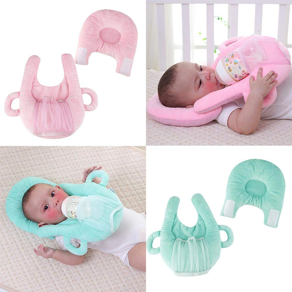 Baby Head Shaping Pillow Nursing Pillow Portable Detachable Feeding Pillow Multifunctional Portable Baby Bottle Holder Hands Free for Mom /& Baby AOLVO Baby Self Feeding