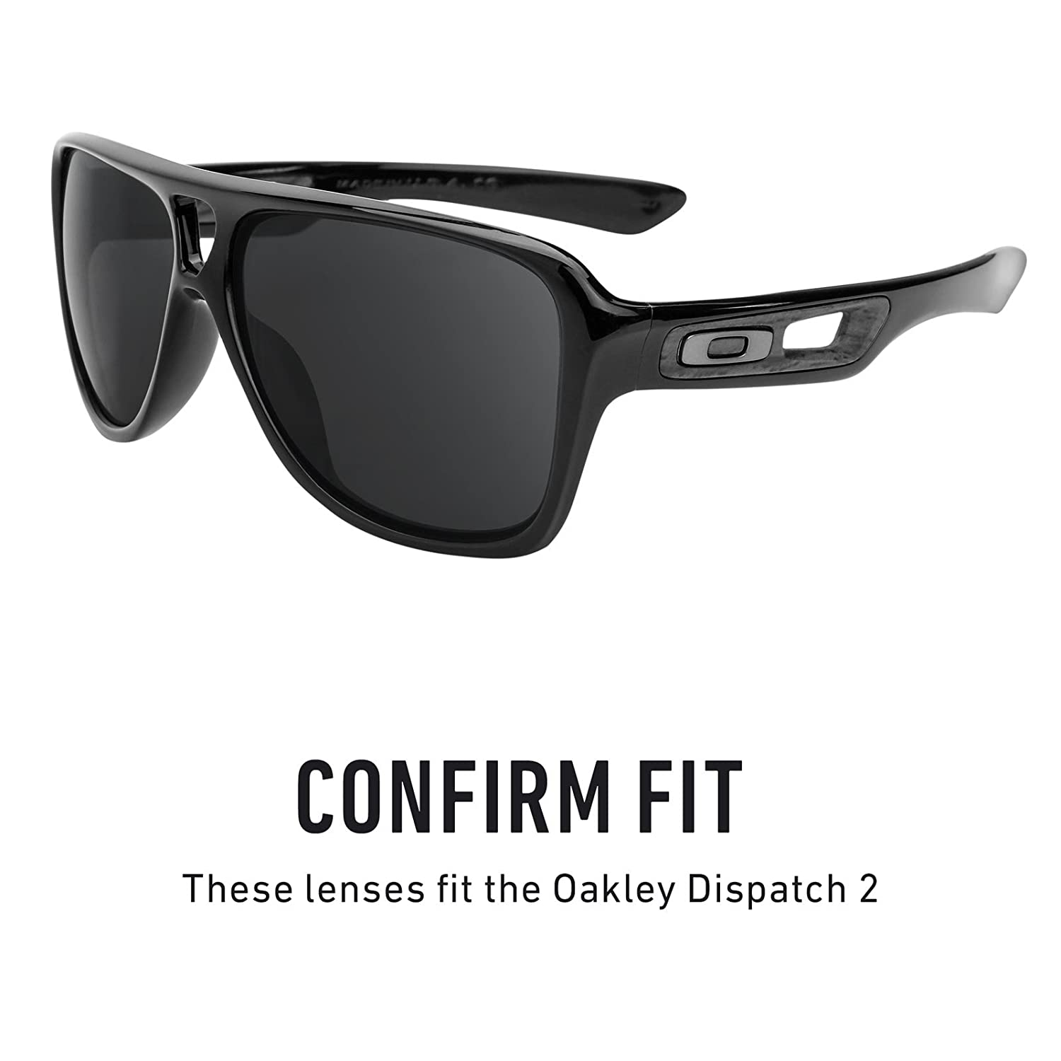 0c3b0bf8fa Amazon.com  Revant Polarized Replacement Lenses for Oakley Dispatch 2 Elite  Black Chrome MirrorShield  Sports   Outdoors