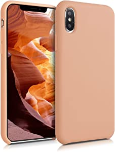 kwmobile TPU Silicone Case Compatible with Apple iPhone Xs - Soft Flexible Rubber Protective Cover - Peach