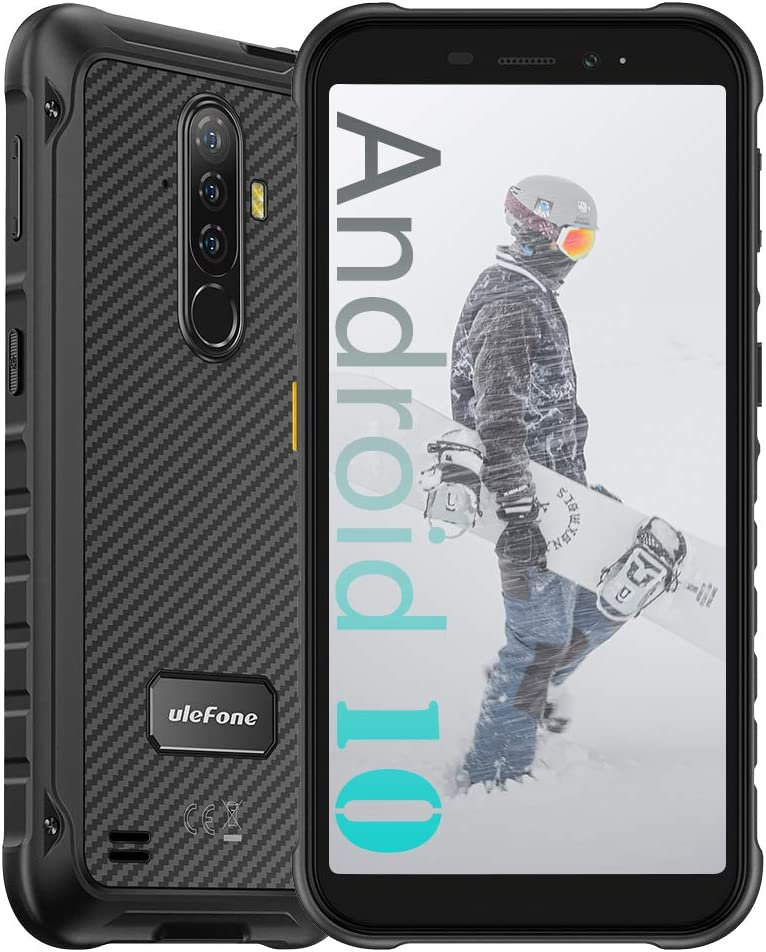 "Ulefone Armor X8 4GB + 64GB Unlocked Rugged Phones, Android 10 Octa-core 13MP Triple Rear Camera + 8MP Front Camera, 5.7"" HD+ 5080mAh Battery, Global Dual SIM 4G Rugged Smartphones US Version -Black WeeklyReviewer"