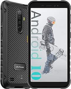 "Ulefone Armor X8 4GB + 64GB Unlocked Rugged Phones, Android 10 Octa-core 13MP Triple Rear Camera + 8MP Front Camera, 5.7"" HD+ 5080mAh Battery, Global Dual SIM 4G Rugged Smartphones US Version -Black"