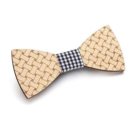 Corbata de madera hecha a mano para hombre, diseño de bote de ...