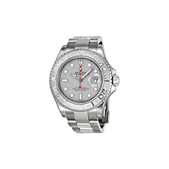 amazon com rolex yacht master platinum dial steel and platinum rolex yacht master platinum dial steel and platinum mens watch 116622plso