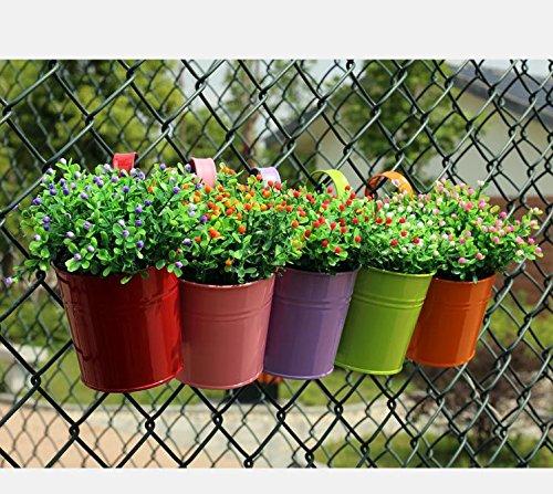 Lovous 174 6 1 Quot X 4 5 Quot X 5 7 Quot Large 3 Pcs Iron Hanging Flower