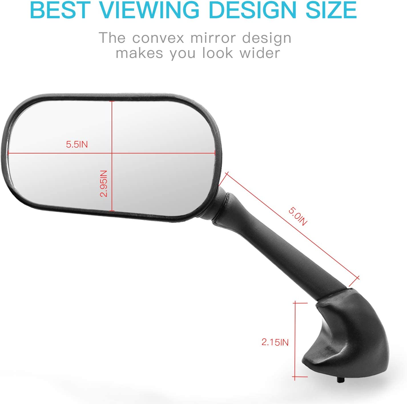 YZF R6 1998-2007 MZS Motorcycle Rear View Mirrors for Yamaha YZF R1 1998-2008