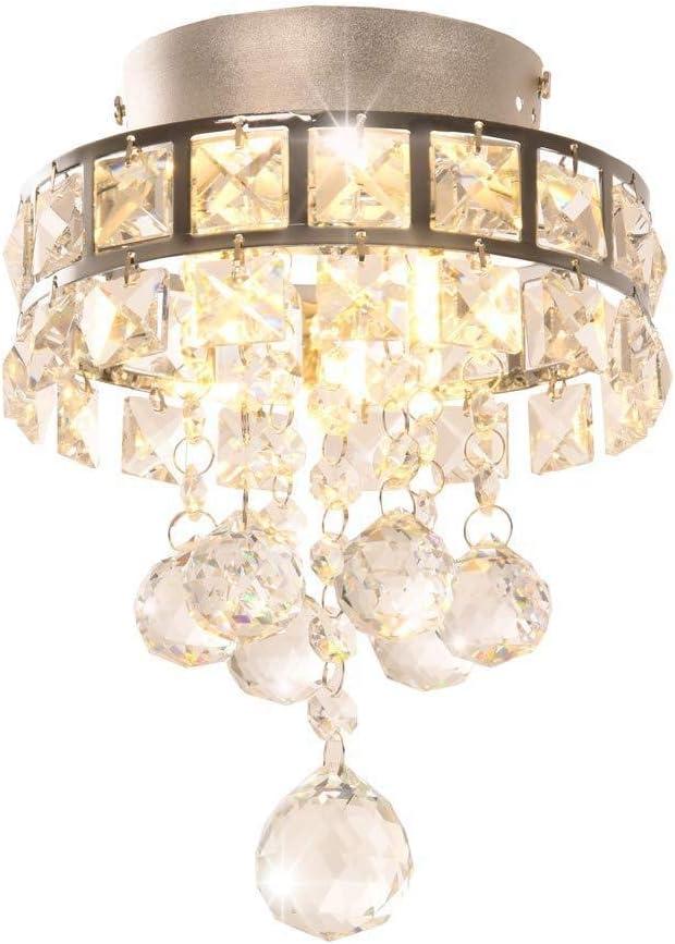 Candelabros de cristal, mini lámparas colgantes con 3 luces para pasillo, dormitorio, cocina, cuarto de niños