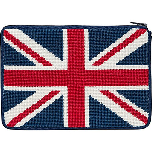 Stitch & Zip Needlepoint Purse/Cosmetic Case Kit - SZ609 British - Needlepoint Flag