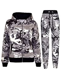 A2Z 4 Kids® Boys Girls Tracksuit Kids Charcoal Camouflage Jogging Suit Top Bottom 5-13 Years