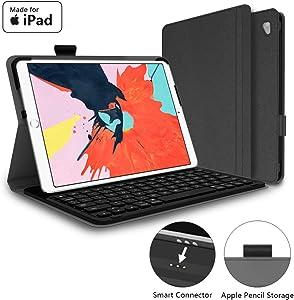 Mangotek iPad Pro Keyboard Case, 9.7 inch iPad Pro Wireless Smart Connector Keyboard. Slim Combo Lightweight Folio PU Leather Cover for iPad Pro 9.7