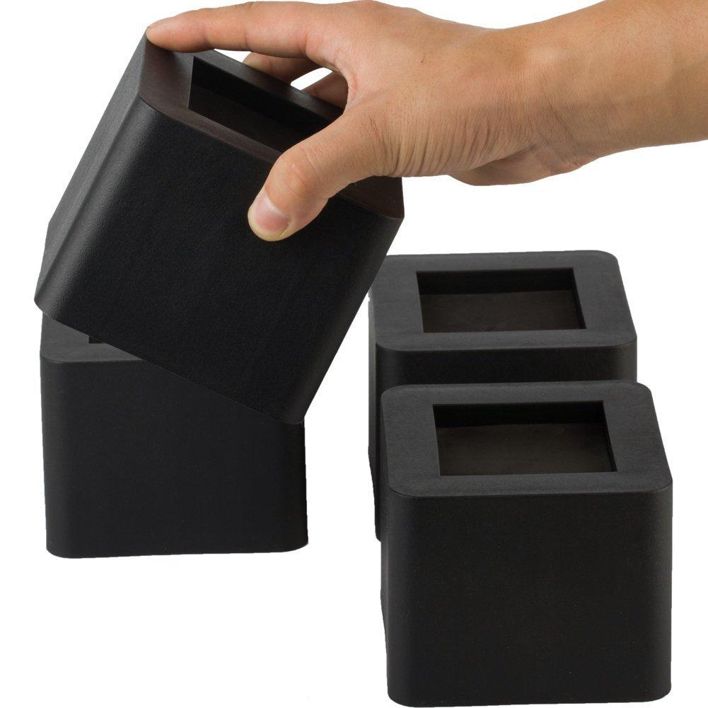 Uping Bed Risers 2.75 Inch | Heavy Duty Design Furniture Riser | 4PCS | Black 1909073868762