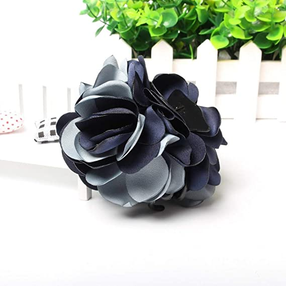 Apparel Accessories 8cm Beauty Ribbon Two-tone Flower Jaw Hair Clip Barrette Flower Hair Claws For Women Girl Headwear Hair Accessories Buy One Give One