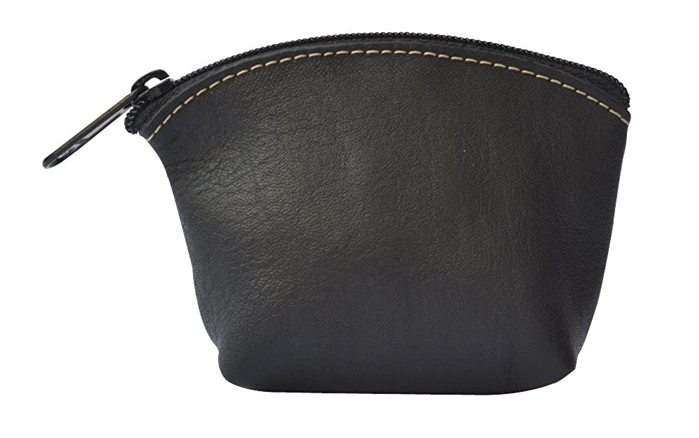 Artisan's Made Leather Coin Purse in Black - from Costa Rica.