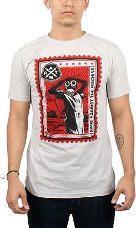 Rage Against The Machine - Camiseta para Hombre, diseño de Sello, Color Plateado - Plateado - Medium: Amazon.es: Ropa y accesorios