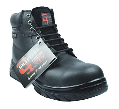 Grafters Extra Extra Wide (4E Fitting) Work Boot with Steel Toe ...