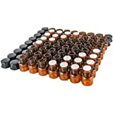 50 Pack 1mli1/4 Dram Mini Amber Glass Essential Oils Sample Bottles with Orifice Reducer and Black Caps for Essential OilsChemistry Lab ChemicalsColognes & Perfumes.3 Plastic Droppers as Gift.