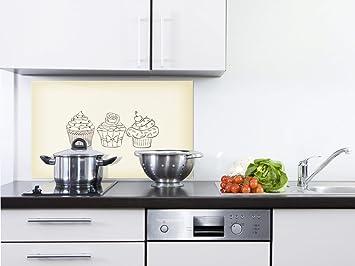 GRAZDesign Küche Glasrückwand braun - Wandverkleidung Küche ...
