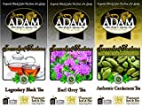 Adam Tea Variety Pack, Black/Earl Grey/Cinnamon
