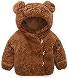 QIANMEI Toddler Baby Boys Girls Fur Hoodie Winter Warm Coat Jacket Cute Bear Shape Thick Clothes