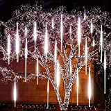 EAGWELL Upgraded Meteor Lights, 20 inch 10 Tube 540 LED Falling Cascading Meteor Light, Waterproof Meteor Shower Lights Outdoor for Holiday Party Wedding Christmas Tree Decoration -Cool White