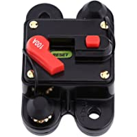 100Amp Circuit Breaker with Manual Reset,Inline Fuse Inverter for Car Marine Boat Bike Stereo Audio